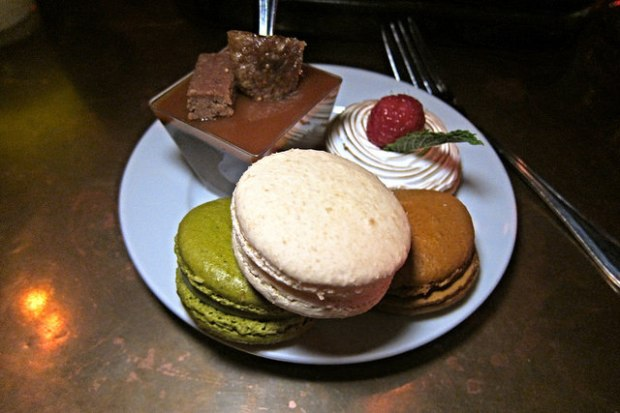 macarons, lemon tart and pot du creme