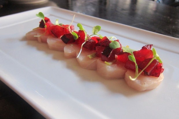 Ivory salmon crudo