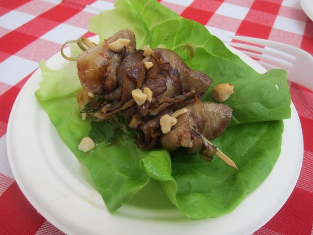 grilled beef tongue lettuce wrap from Chef David Lefebvre, MB Post and Fishing with Dynamite