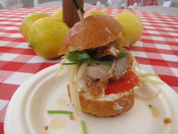 fried chicken sandwich from Night + Market