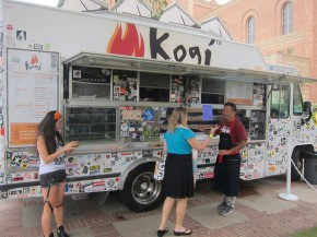 Chef Roy Choi with his Kogi truck
