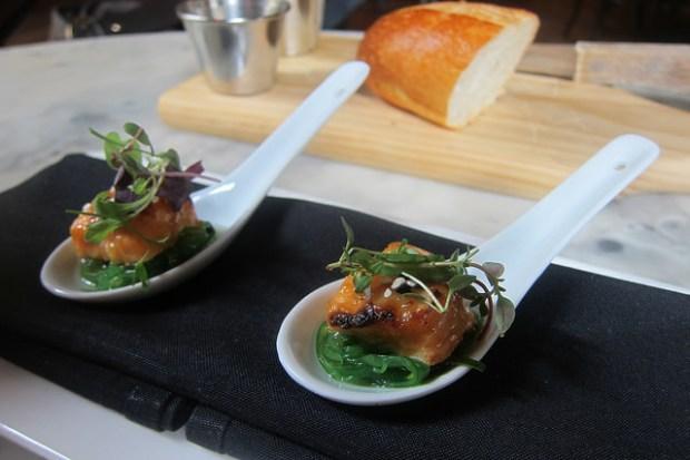 miso salmon, yuzu, seaweed salad