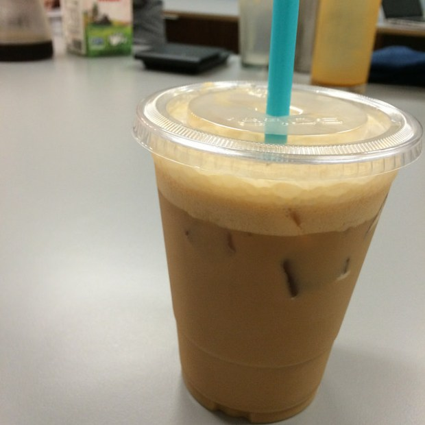 palm sugar whiskey iced latte