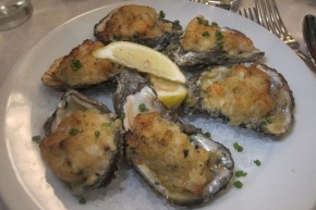 stuffed P&J oysters
