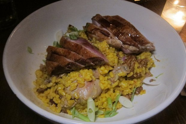 Maple Leaf Farms duck paella