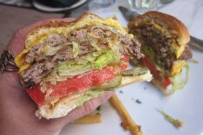 interior of burger
