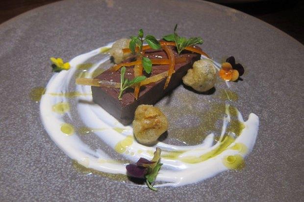 basil dark chocolate pate