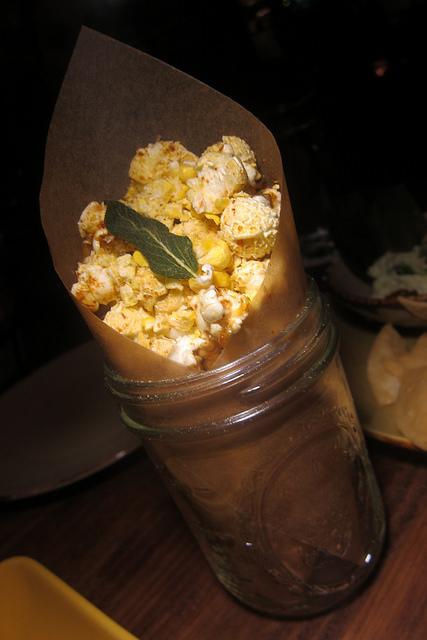 popcorn with crustacean salt