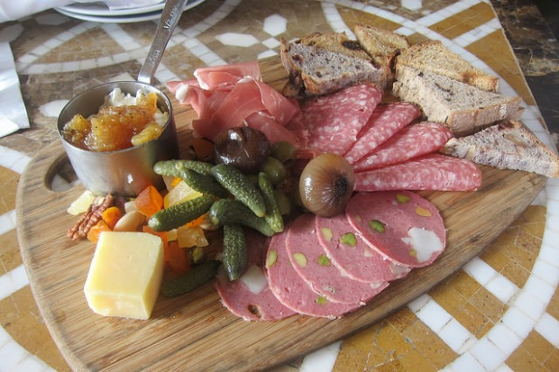 charcuterie plate at the Lobby bar