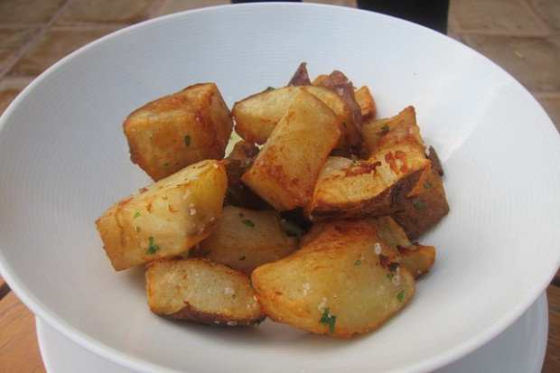 crispy potatoes at Mar'sel
