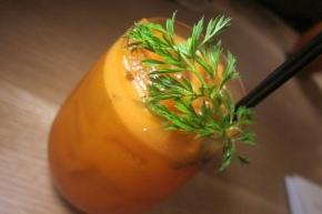 gin,  Aperol, cardamon, carrot