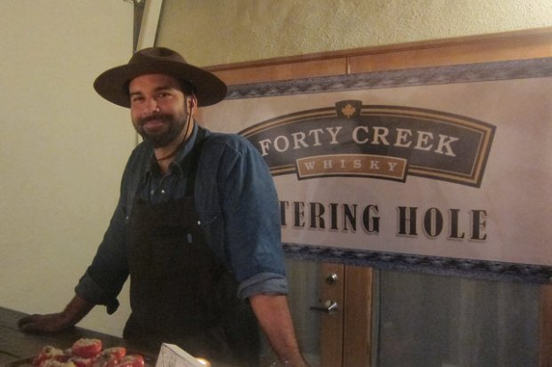 Julian Cox at the Forty Creek Whisky dinner