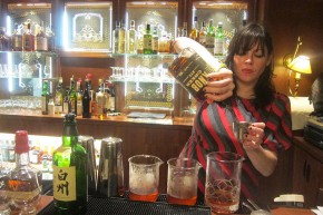 Bartender Gina Kent at Golden State of Cocktails, 2015