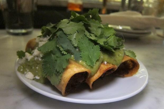 spicy potato taquitos