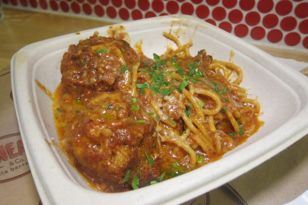 Sunday sauce spaghetti and meatballs