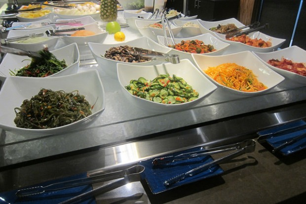 a salad bar of banchan!