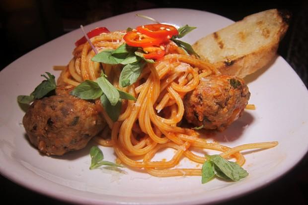 Sicilian meatball pasta