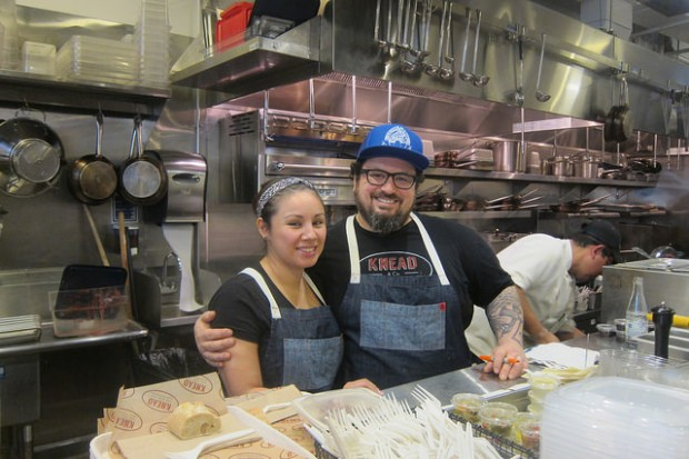 Chef Bruce Kalman with Union and Knead's Chef Crystal Espinosa