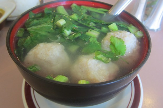 hok choy fish ball soup