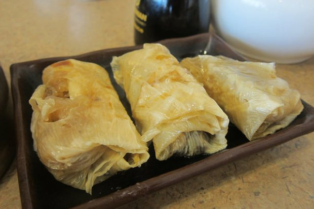 vegetarian bean curd wraps
