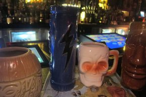 mugs for sale at the Golden Tiki