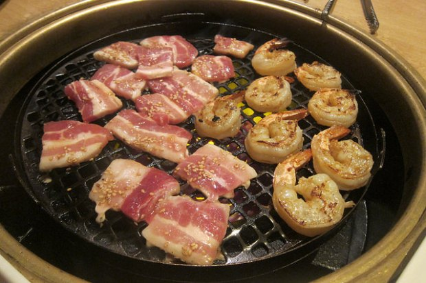 pork belly and garlic shrimp