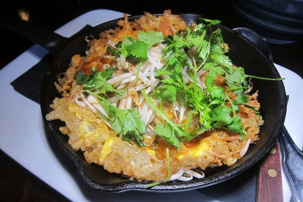 fried mussels pancake