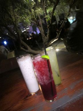 trio of drinks