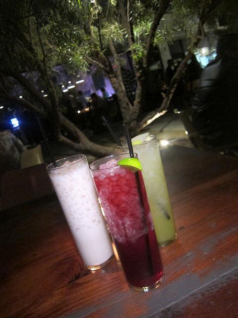 trio of drinks