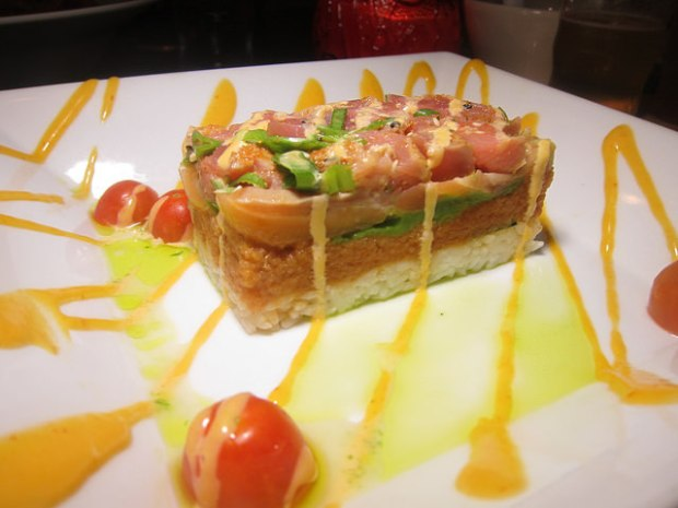 spicy tuna stack