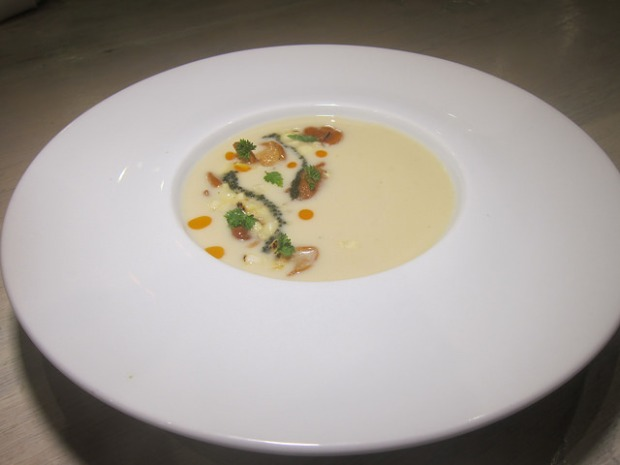 sweet corn veloute