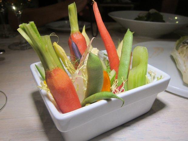 market vegetables crudite