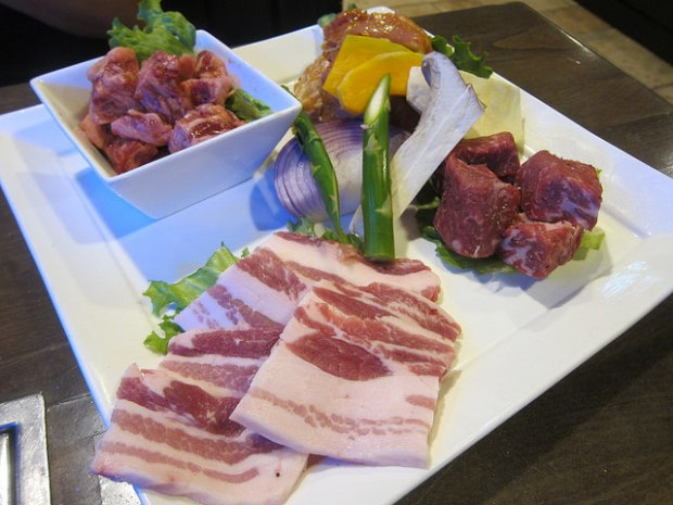 a selection of meats