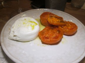 burrata and tomatoes