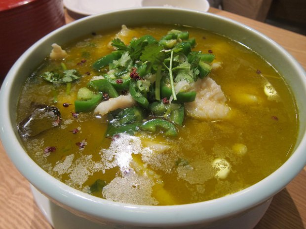 water boiled fish (green chile sauce)