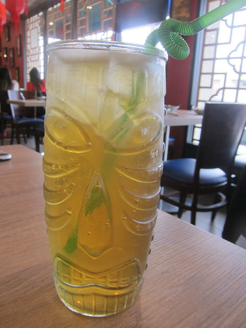 ice tea in a tiki mug