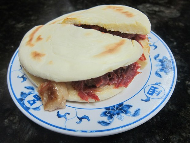 "Chinese ""burger"" with beef"