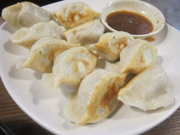 pork and Chinese celery dumplings