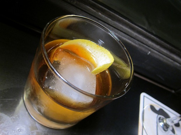 Old Fashioned with Mikkeller Black